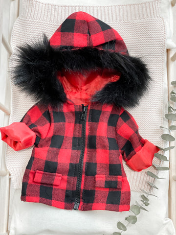 Buffalo Plaid Jacket - Doll