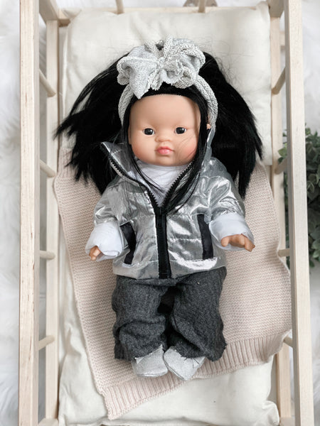 Silver Shimmer Bow - DOLL