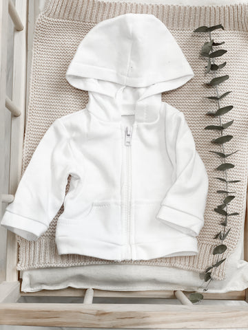 White Zip-Up Jacket - DOLL