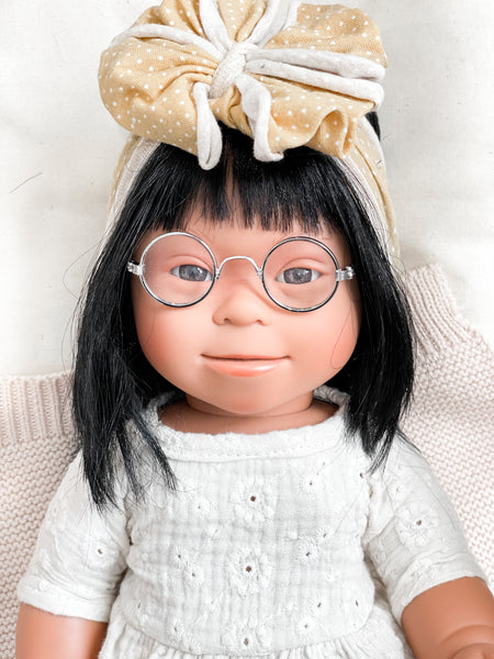 Silver Round Glasses - Doll