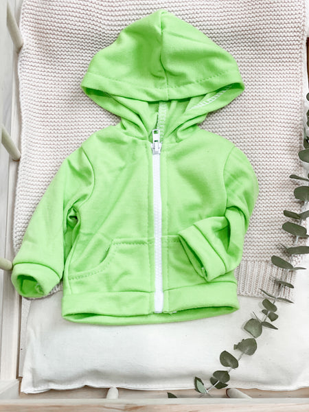 Lime Green Zip-Up Jacket - DOLL