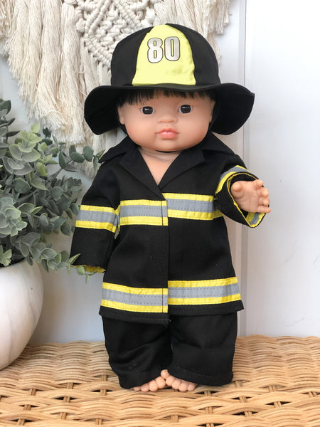 Firefighter Inspired Outfit- Doll
