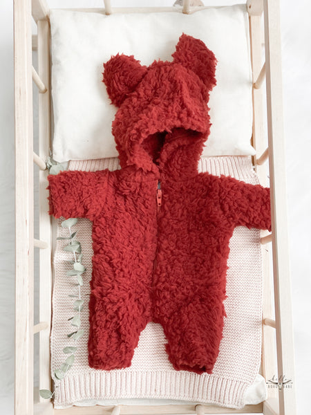 Red Furry Bear Suit - DOLL