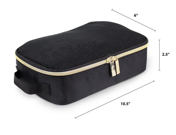 Pack Like a Boss - Black + Gold Packing Cubes