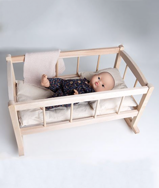 Wood Rocking Bed - DOLL