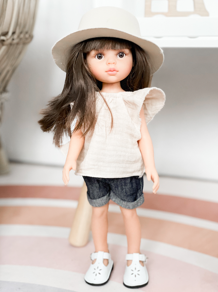 Gauze Ruffle Top- DOLL