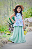 Maxi Skirt - Heather Pistachio