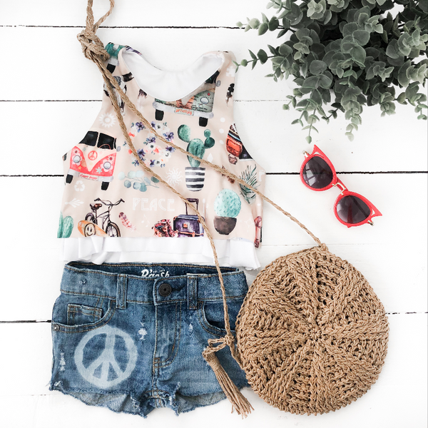 Hippie Bus Flowy Tank Top
