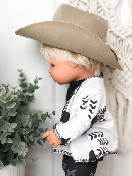 Tan Cowboy Hat - Doll