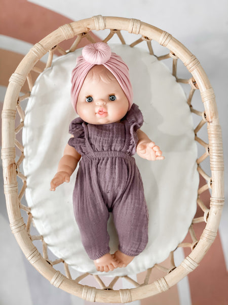 Dusty Rose Turban - DOLL