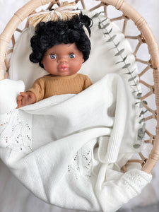 Cream Knit Blanket - DOLL