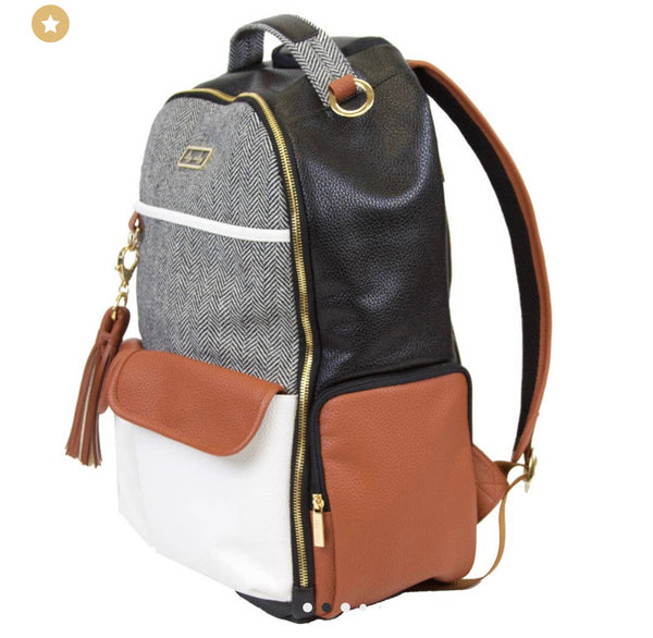 Coffee & Cream Boss Diaper Bag Backpack