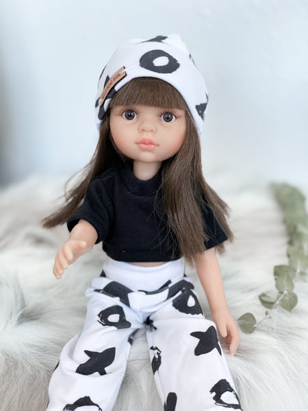 Monochrome XOXO Set- Doll