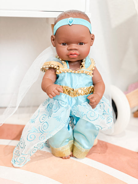 Jasmine Inspired Princess Outfit - Miniland Newborn Doll