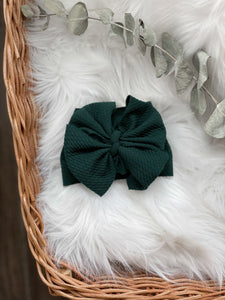 Hunter Green Bow - DOLL