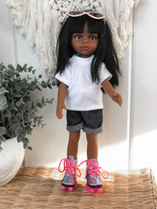 Denim Shorties - Las Amigas Doll