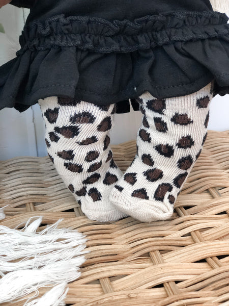 Leopard Tights - Doll