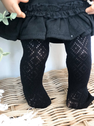 Black Boho Tights - Doll