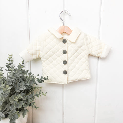 Cream Quilted Coat - DOLL
