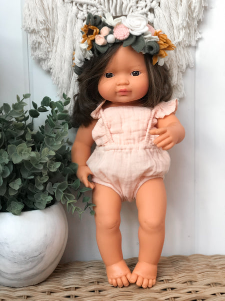 Rose Gauze Romper - Doll