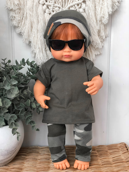 Army Green Tee - Doll