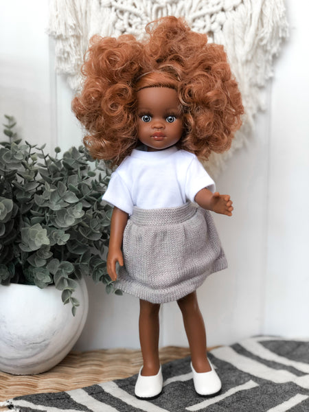 Grey Knit Skirt - Las Amigas Doll