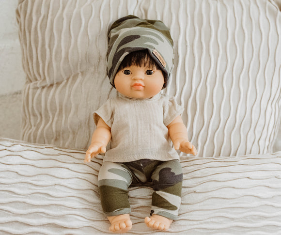 Oatmeal Woven Top - Doll