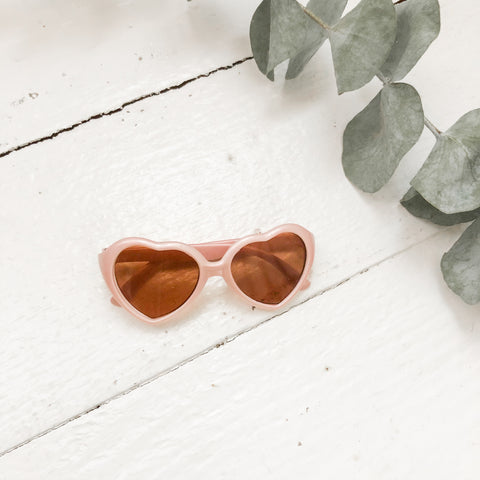 Rose Gold Heart Sunnies - Doll
