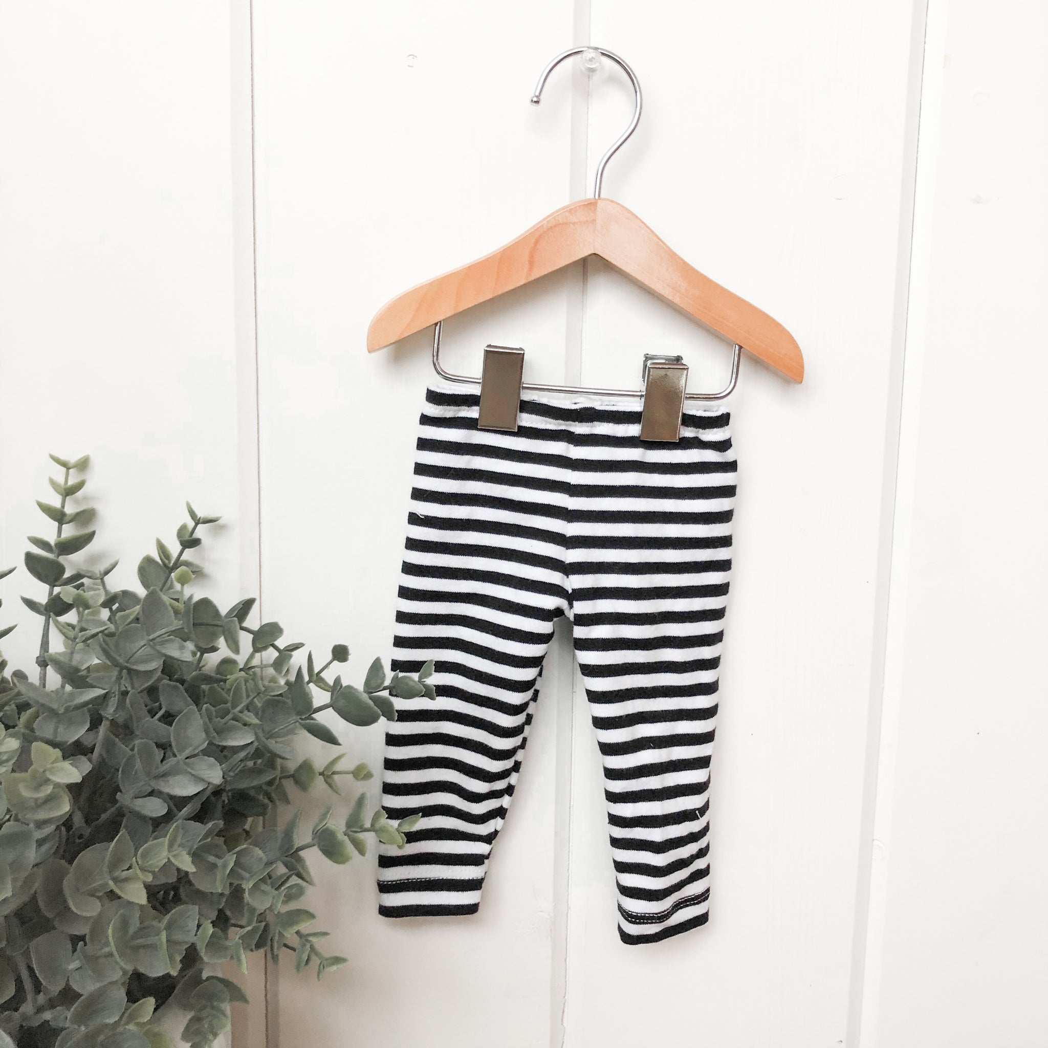 Black & White Stripe Pants - Doll