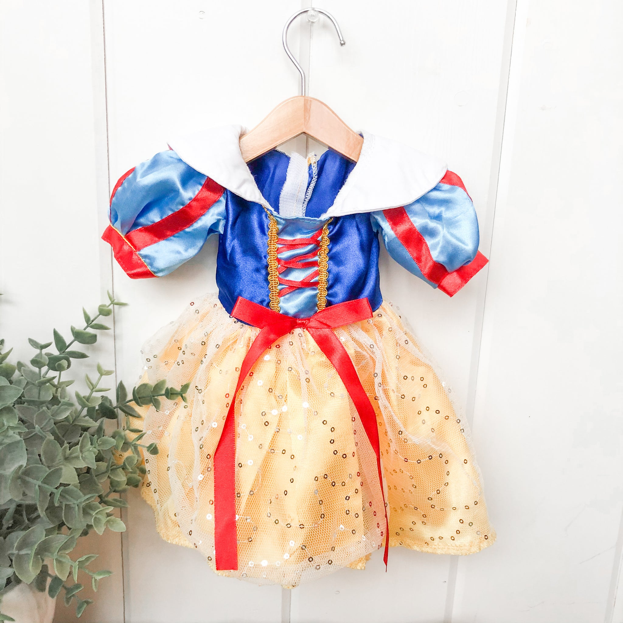 Snow White Inspired Dress- Doll