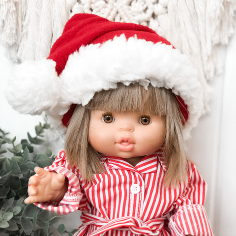 Santa Hat & Scarf Set - Doll