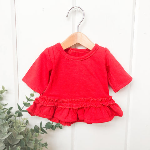 Red Ruffle Dress - Doll