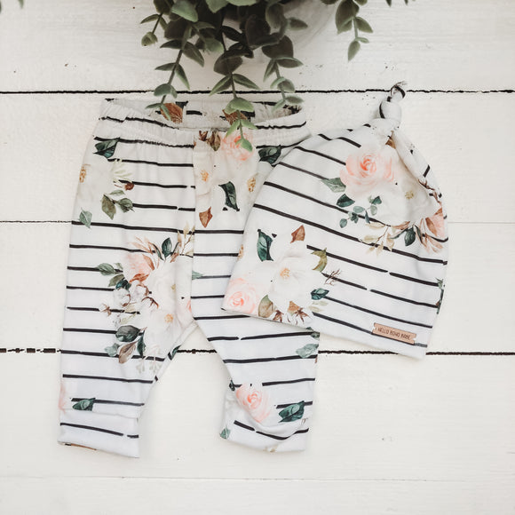 Stripe Floral Newborn Set