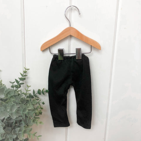 Solid Black Pants - Doll