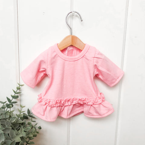 Pink Ruffle Dress - Doll