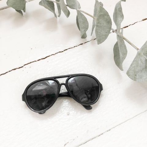 Black Aviator Shades - Doll