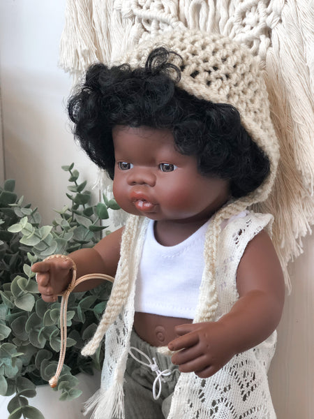 Crochet Bonnet - Doll