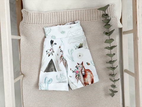 White Horse Pants - Doll