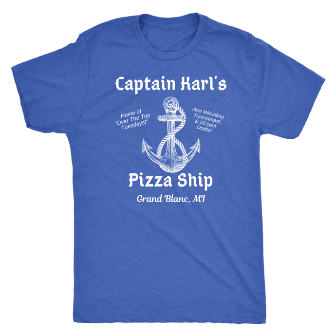 Captain Karl's Pizza Ship Tee (4 colors available)