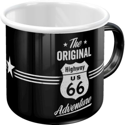 Route 66 - Emaille Tasse