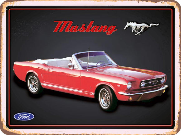 Ford Mustang Cabrio rot - Metallschild