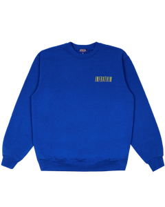 INFRATHIN BLUE CREWNECK WITH GRADIENT LOGO AND WAVE