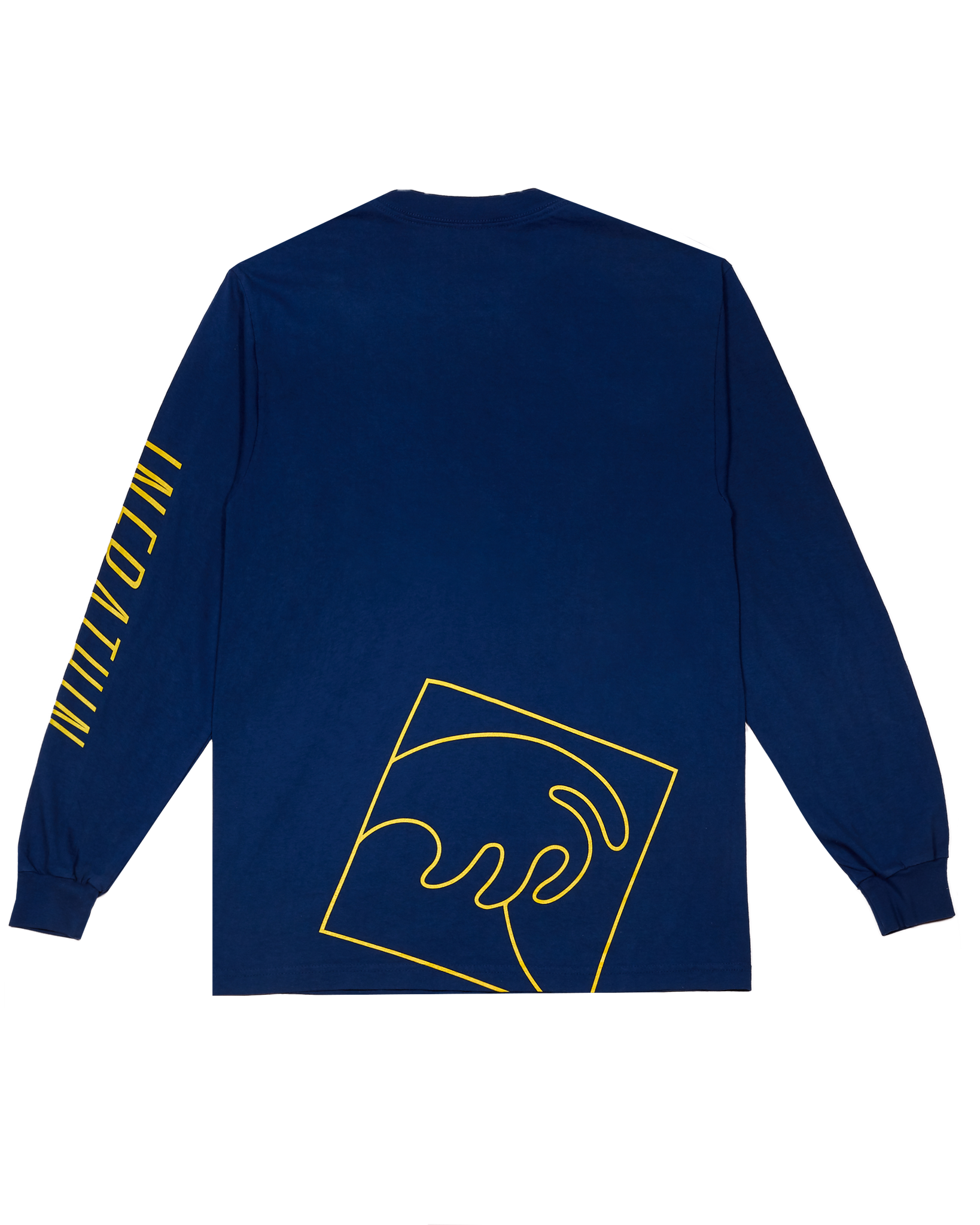 NAVY LONG SLEEVE WITH YELLOW LOGO AND WAVE