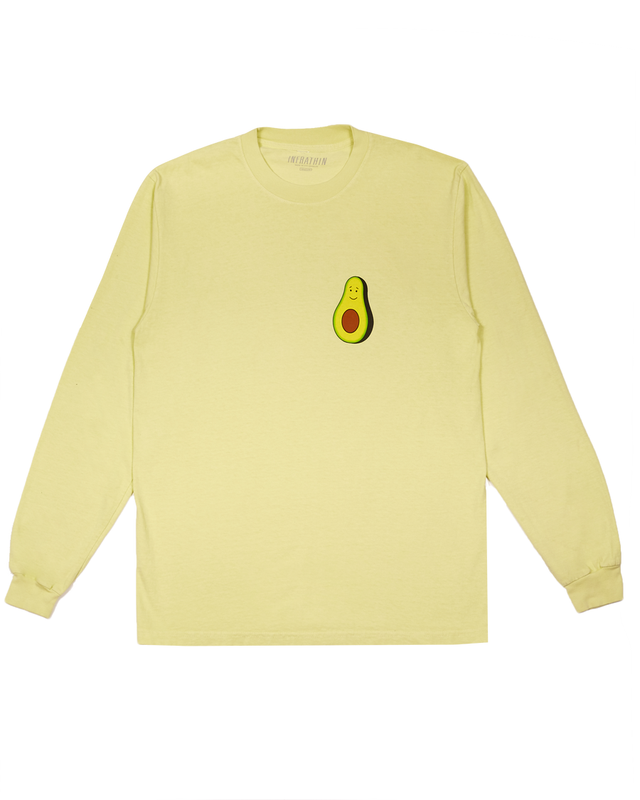 LIGHT GREEN LONG SLEEVE WITH AVOCADO