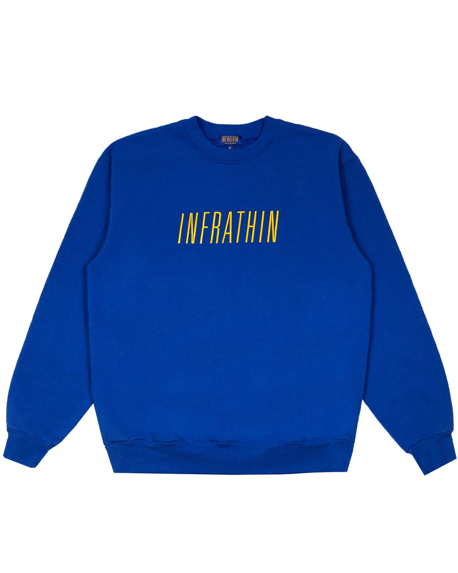 BLUE SWEATSHIRT WITH YELLOW LOGO