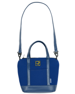 NAVY BLUE NEOPRENE HANDBAG