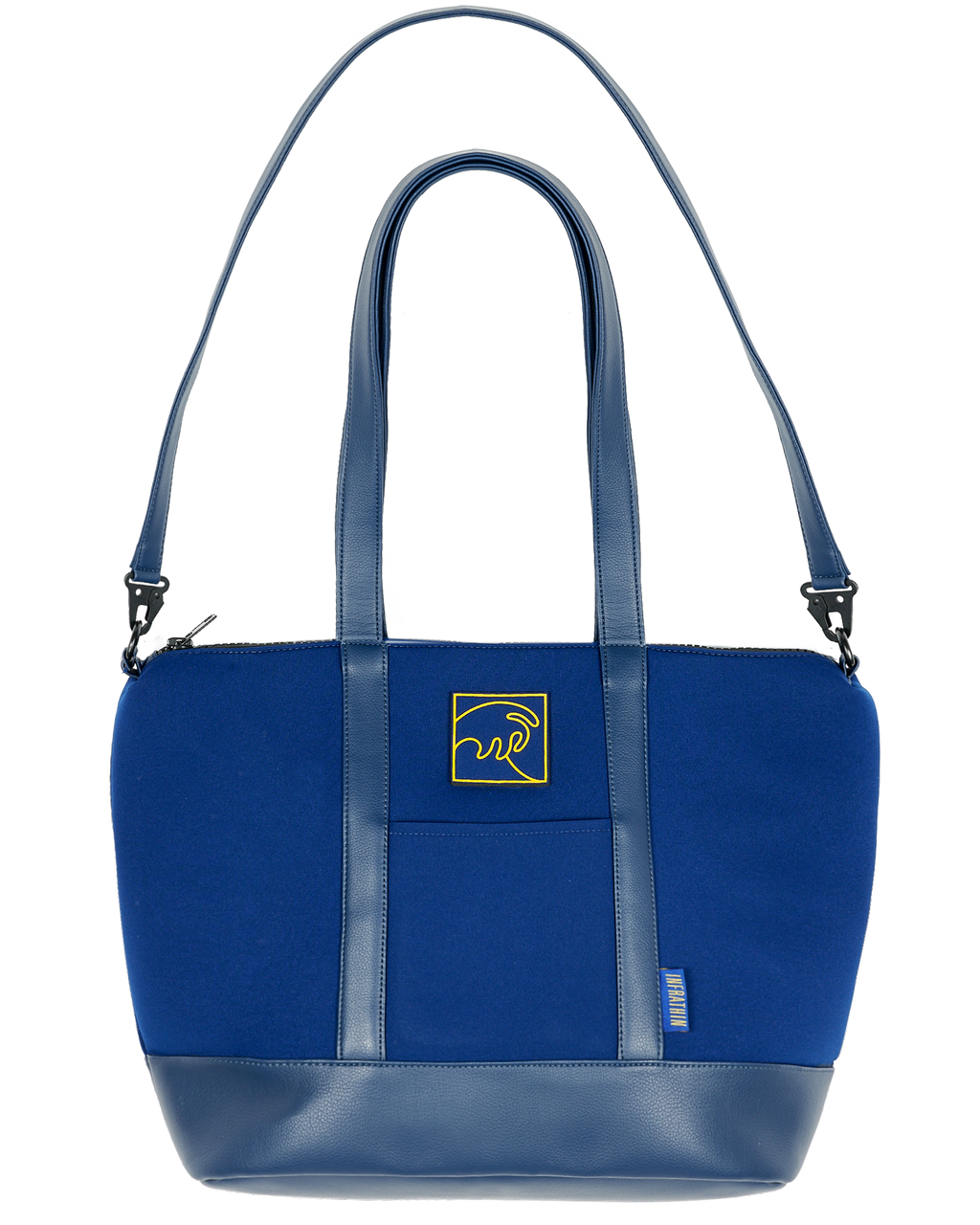 NAVY BLUE NEOPRENE OVERNIGHT BAG