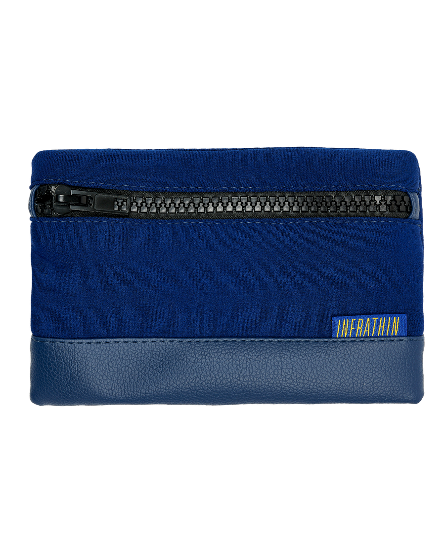 NAVY BLUE SMALL ZIPPER POUCH