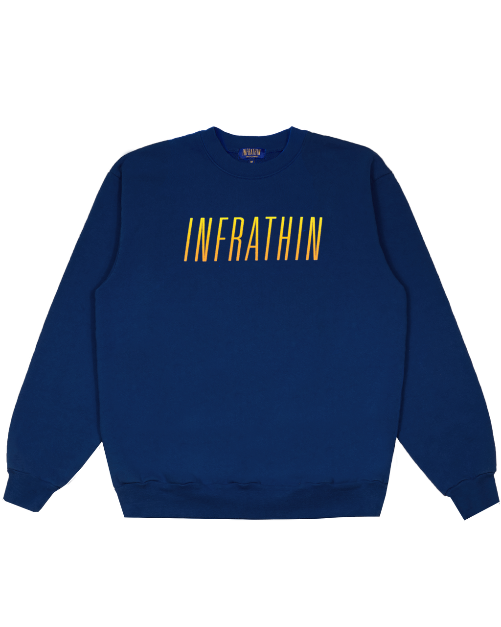 NAVY CREWNECK WITH PUFFY GRADIENT LOGO