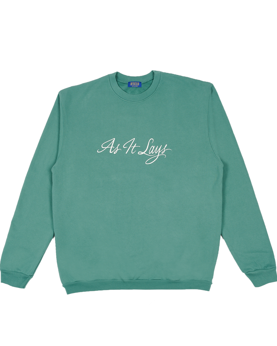 GREEN AS IT LAYS CREWNECK